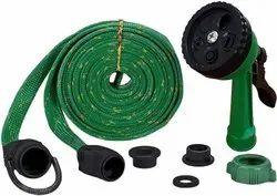 Plastic 10m Water Spray Gun Hose Pipe For Garden/Car/Bike - 10-M-Water-Spray