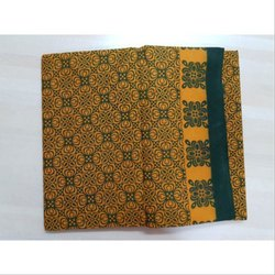 Printed Cotton Saree, Length: 5.5 m (separate blouse piece)