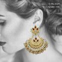 Ethnic Kundan Chandbali Earrings