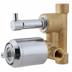 BRASS SINGLE LEVER DIVERTER