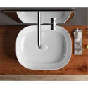 White Ceramic Maniz Table Top Basin