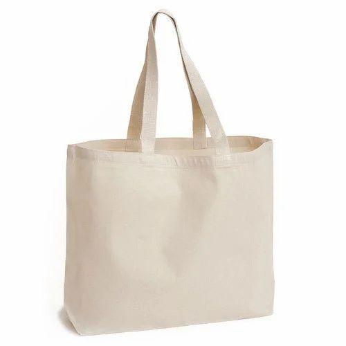 e3d1fada4b Plain Cotton Canvas Tote Bag, Rs 45 /piece, C.B. Agrawal & Son's ...