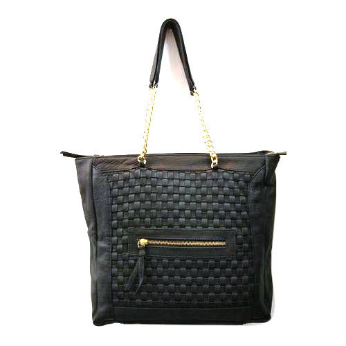 College Leather Handbag