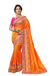 Silk Embroidery Saree (K829)