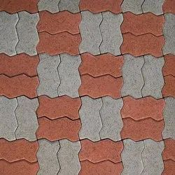 Red,White Concrete Interloking Pavers, For Pavement, Thickness: 80mm