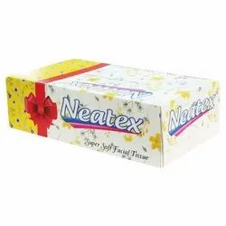 100 Pieces Neatex Super Soft Facial Tissue for Household, Packaging Type: Box