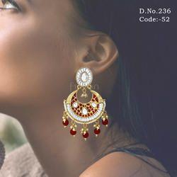 Chandbali Meenakari Earrings