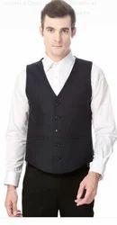 Peter England Black Waistcoat