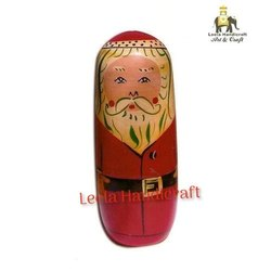 Wooden Santa Claus Doll