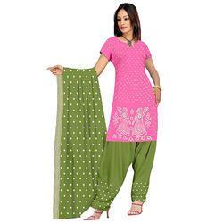 Pink Bandhani Designer Suit