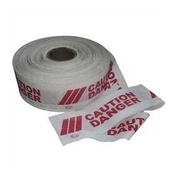 White & Red Barrication Safety Tape