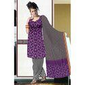 Purple Bandhej Suit