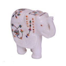 Marble Inlay Beautiful and Decorative Elephant