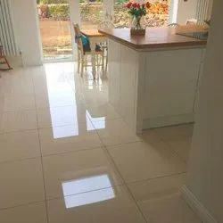 Cream Square Glossy Ceramic Floor Tile, Size: 30 * 60 In cm, Thickness: 0-5 mm