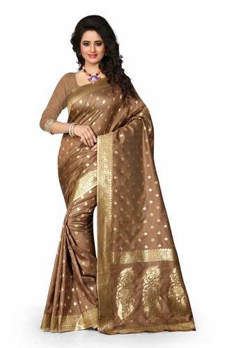 d44a278fd0 Banarasi Silk Real Zari Gold Traditional Silk Saree With Zari Work ...