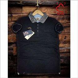 Cotton Men Being Human Collar T Shirt