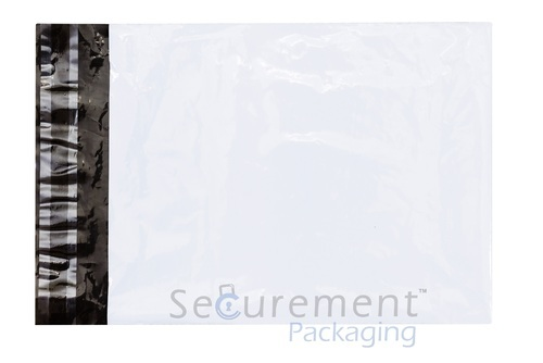 White Printed Courier Bags, Size: 15 X 20 Inch