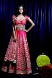 Indian Ethnic Designer Mulberry Pink Bridal Wear Lehenga Choli
