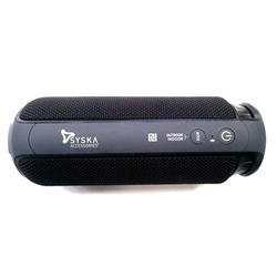 Black Syska Bluetooth Speaker, Packaging Type: Box