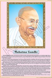 Mahatma Gandhi For Life Sketch Of Great Men Chart