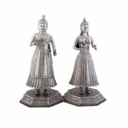 925 Sterling Silver Carving Article King and Queen