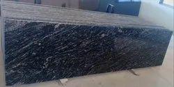 Polished Big Slab Black Marquino / River White Granite, Thickness: 15-20 Mm