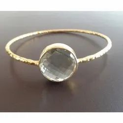 Crystal Quartz Fancy Bangle