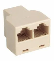 8P8C RJ45 Female T Adapter Connector Jointer Y Splitter