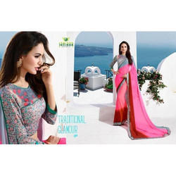 Georgette Plain Saree