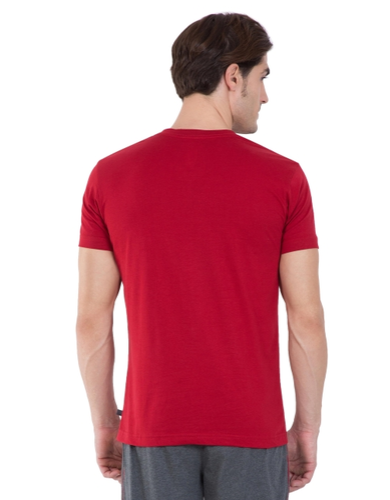 b6f743313 80% Cotton And 20% Polyester Shanghai Red Jockey V-neck T-shirt ...