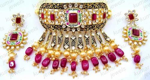 233b5fa12f Women Anniversary And Wedding Marvelous Hot Pink Kundan Necklace Set ...