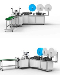 Woven Type Mask Making Machine With 3 Layer