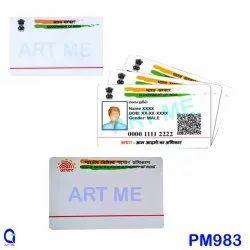 White Adhaar Card