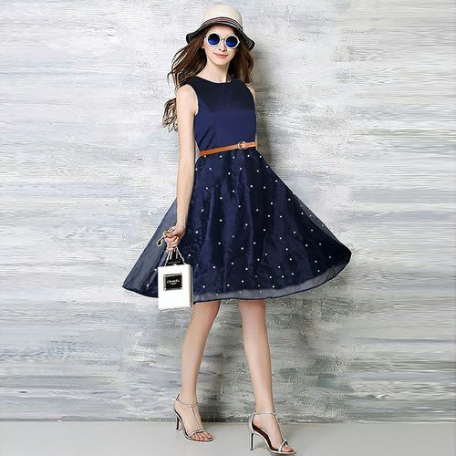 Party Dark Blue And Black Western Ladies Short Gown, Rs 700 /piece ...