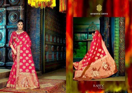 4e34a5edf6dd2 Wedding Wear And Festive Wear Exclusive Party Wear Cotton Silk Jacquard  Weaving Saree