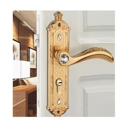 Brass Gold Bathroom Lever Handle, Size: 230 Mm
