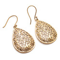 Nice Handmade Brass Forever Gold Plated Ethnic Heritage Earring Jewellery