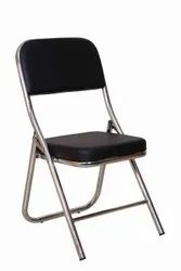Omacme Black FC 1 Leather SS Frame Office Fix Chair
