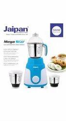 Jaipan Mega Star 550 watts Mixer Grinder for Kitchen, Capacity: 3 Jars