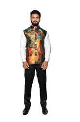 Men Printed Jawahar Cut Jacket CPS164