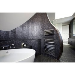 Glass Brown Wall Cladding Bathroom Mosaic Tiles, Thickness: 6 - 8 mm