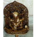 Polished Wooden Ganesha Statue