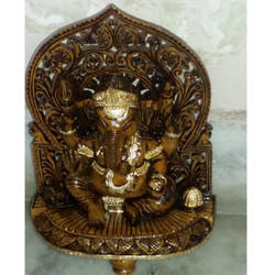 Decorative Wooden Ganesha Statue