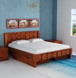 AST Sheesham Wooden Bed