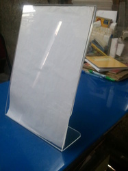 L Shaped Leaflet Holder