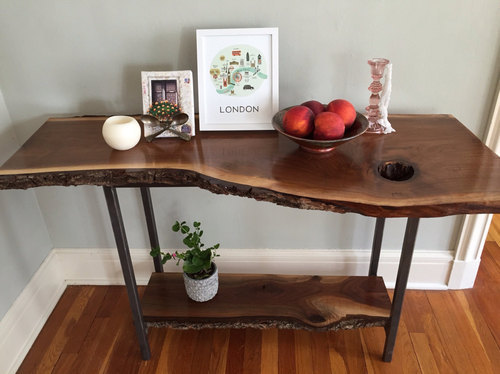 Live Edge Tables Wooden Manufacturer From Mumbai - Live Edge Sofa Table