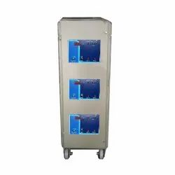 Single Phase Iron Servo Voltage Stabilizer, Floor, With Surge Protection