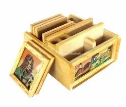 Wooden Jem Chokor Tea Coaster