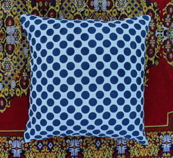 Indigo Hand Block Printed Cushion Cover