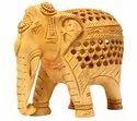 Wooden Elephant ( L 12.40 Cm X H 10 Cm ), For Interior Decor, For Home Decor